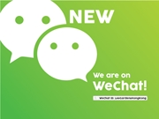 We are NOW on WeChat!
